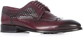 Fast Erkek Klasik Ayakkabı Bordo Alkollü-Bordo Piton