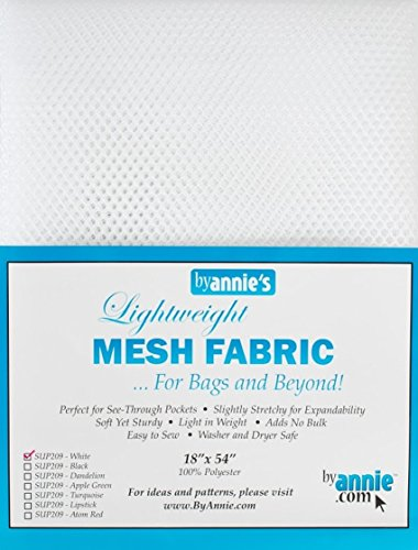 """Annie by Mesh Fabric Lightweight 18""""x 54"""" White, 18"""" by 54"""","""