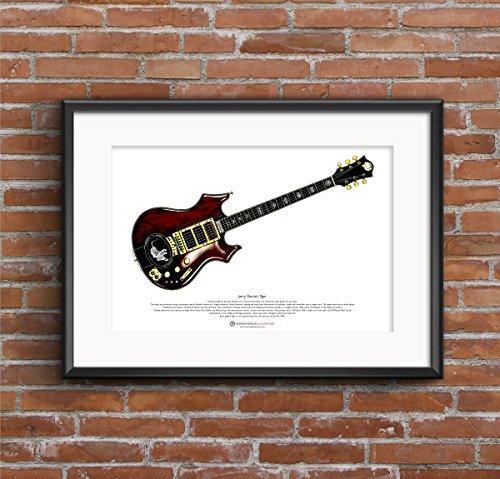 George Morgan Illustration Jerry Garcias 'Tiger' Gitarre Art Poster A3-Format