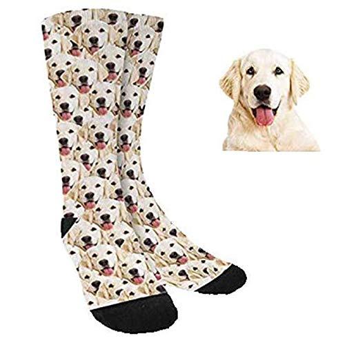 Calcetines Divertidos Personalizados y Cubre caras Con Cara Perros Gatos Hombre Mujer - Sube tu Foto Nosotros hacemos el trabajo! - Unisex - Nombres Regalo Original (CALCETINES)