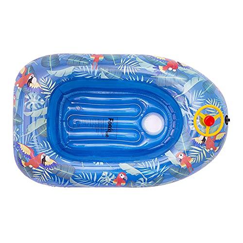 fondosub Barca Hinchable Infantil con Volante Tropical 125 cm (88508), Surtido