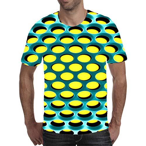 AXDNH La impresión 3D Camiseta, Moda Unisex Manga Corta Creativa Personalizada Arte Visual Multicolores de Malla de Fitness Ocio Top,Z,5XL