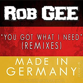 You Got What I Need (Remixes) [Made in Germany]