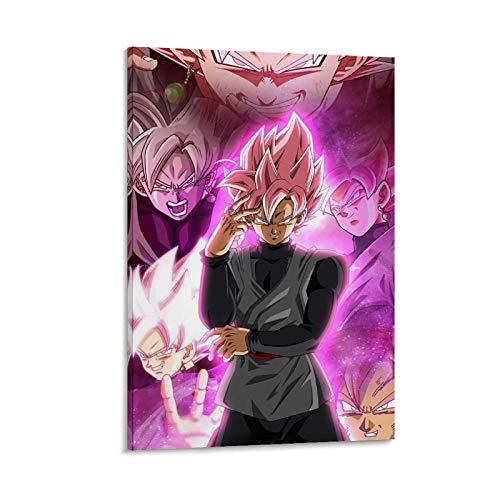 JIELAI Black Goku SSJ - Póster decorativo de lienzo para pared de salón, póster para dormitorio, 20 x 30 cm