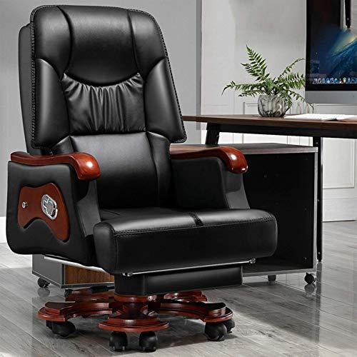 Gaming-Stuhl, Büro-Gaming-Stuhl, Rückenlehne mit verstellbarer Rückenlehne, drehbar, Arbeitszimmer, Computersitz mit Fußstütze (Farbe: Braun + Fußstütze)