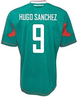 adidas Hugo Sanchez #9 Mexico Home Soccer Jersey (XL) Green