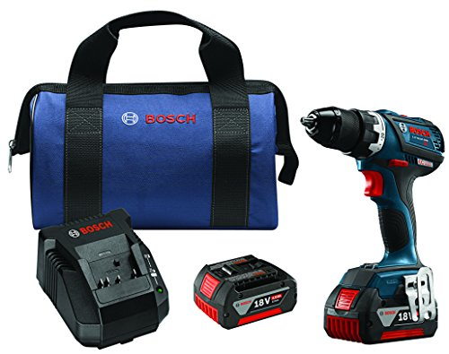 """Bosch DDS183-01 18V Lithium-Ion Brushless Compact Tough 1/2"""" Drill/Driver Kit"""