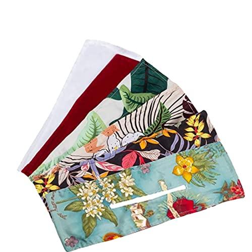 Deft Bun - Bandas para el cabello de moda de 6 colores para mujer, diadema de alambre anudado de verano con estampado Ha, bandas para la cabeza sin deslizamiento a la moda para mujeres con pelo corto