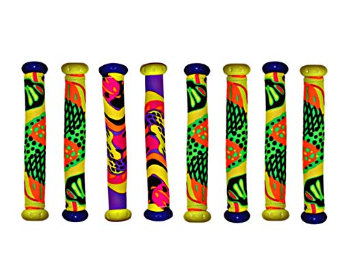 Diving Masters Dive Sticks 8 Pack- Orange Red Blue and Green