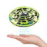 Mettime Mini Drone para Niños y Adultos Movimiento Control Mano Drones Juguetes Voladores Recargable UFO Drone con Luz LED Beginner RC Helicóptero Regalos para Niños