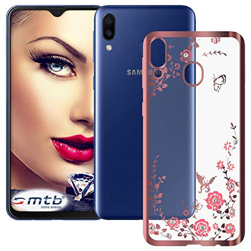 mtb more energy® Funda TPU Bloomy para Samsung Galaxy M20 (SM-M205, 6.3'')...