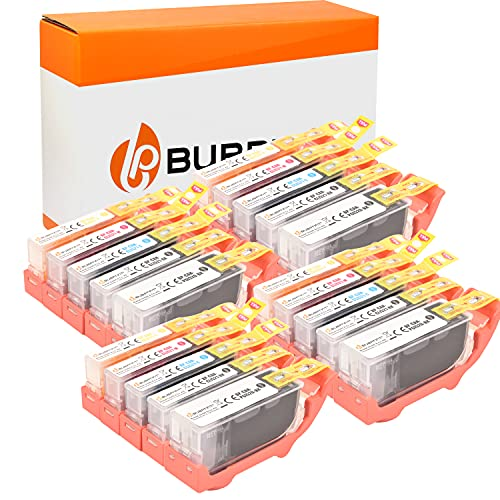 Bubprint Kompatibel Druckerpatronen als Ersatz für Canon PGI-520 CLI-521 für Pixma IP3600 IP4600 IP4700 MP540 MP550 MP560 MP620 MP630 MP640 MP980 MX860 MX870 20er-Pack