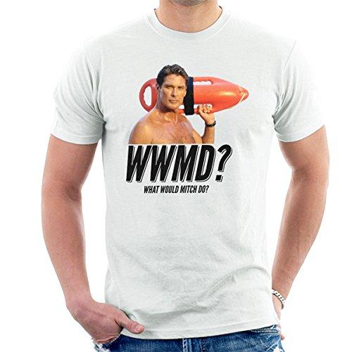 Baywatch What Would Mitch Do David Hasselhoff Men's T-Shirt