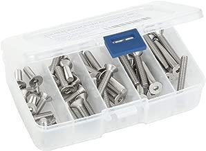 Flat Head Socket Cap Screws, M6-1.0 x 20mm, 25mm, 30mm, 35mm, and 40mm, Allen Socket Drive, DIN 7991, Stainless Steel A2-70, Plain Finish, 50 PCS