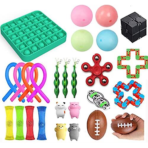 Sensory Fidget set für Kinder oder Erwachsene Fidget Toys Pack-Hand Spielzeug Pop It,Sensorische Fidget Spielzeug, Anti Stress Fidget Toy Set,Squeezing Anti-Stress-Toys