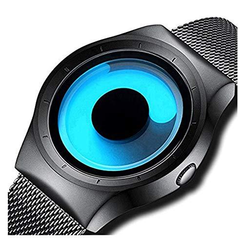 Harbour Swift Movement Blue Spinner Dial Black Shepard Metal