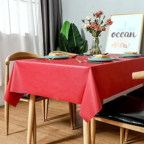 sans_marque Mantel impermeable, resistente al aceite y a prueba de derrames, cubierta de escritorio resistente a las manchas y lavable, utilizado para mesa de cocina de picnic al aire libre 140 x 200