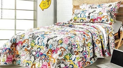 Gabel – Couvre-lit matelassé pour lit simple 170 x 265 cm