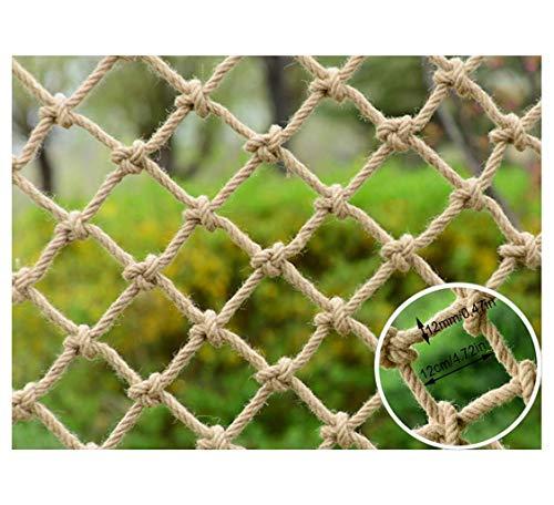 DrakSun Schutznetz Für zu Hause Sicherheitsnetz Treppenhausnetz Sturzschutzbalkon Dekorationsnetz Schutznetz Hanf Kinderseil Netz Safe Net Retro -3x2m