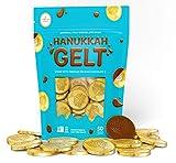 Original Milk Chocolate Coins - Hanukkah Gelt - Made with Premium Belgian Chocolate - Gluten Free - Non GMO - Nut Free - Kosher Certified (50 Coins)