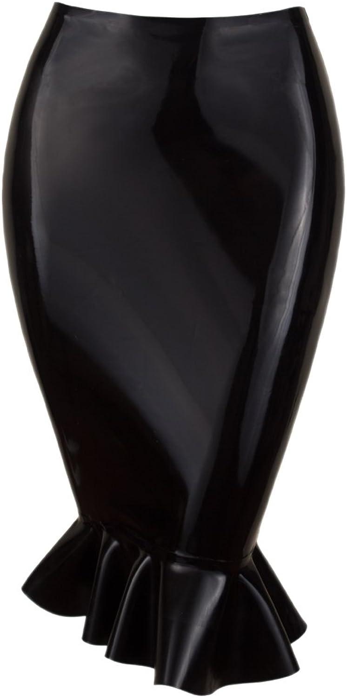 Collective Chaos Latex USA Quality Fishtail Skirt Black
