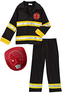 Fireman Fire Fighter Halloween Dressup Costume (Choose Style and Size)