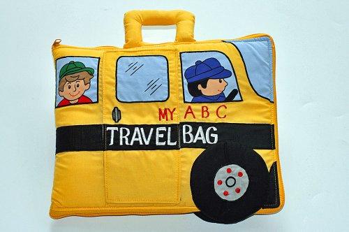 布絵本 MY ABC TRAVEL BAG SCHOOL BUS 刺しゅうABC英語バッグ 知育