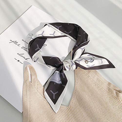 XINDUO Women's Small Square Scarves,Classic all-match decorative scarf-E-60#_90 * 10,Neck Scarf Small Square Scarf