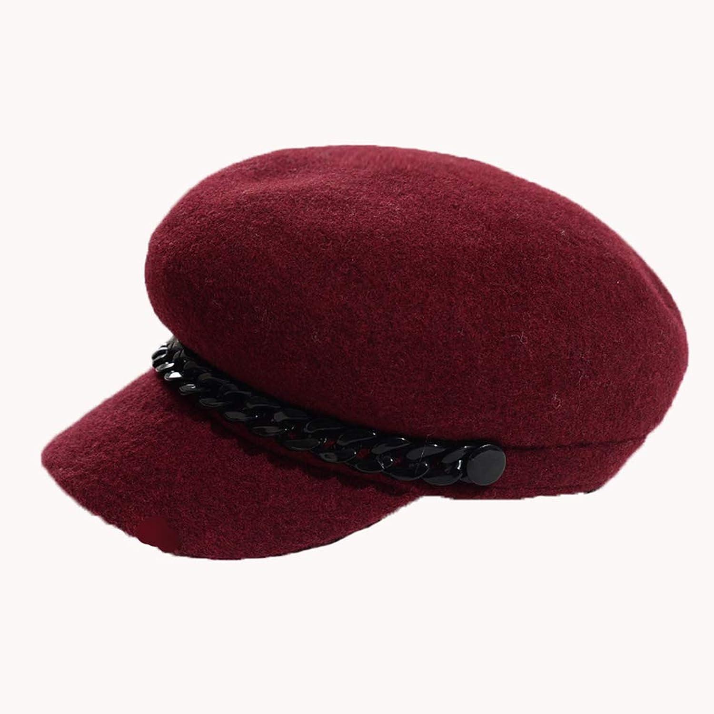 Cappello women Autunno Inverno Studente Berretto Britannico Cappellino Da Pittore Cap Casual Semplice E Non Monotono Materiale Misto Confortevole E Caldo