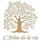 TODO-STENCIL Deco Vintage Composición 036 Arbol Vida. Medidas aproximadas: Medida Exterior 20 x 20 cm Medida del diseño:15,7 x 17 cm