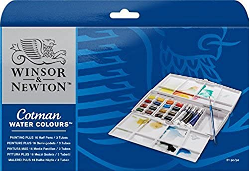 promociones Winsor & Newton - Cotman Cotman Cotman Water Colour Half Pan and Tube Painting Plus by Winsor & Newton  ahorrar en el despacho
