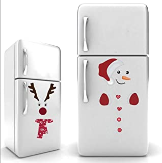 IARTTOP Cute Santa Claus Wall Sticker,Vinyl Christmas Reindeer Art Wall Decal Kitchen Fridge Window DIY Wall Sticker Home Decor