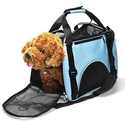 HEI SHOP - Borsone da viaggio per piccoli cani, gatti e cuccioli, 40 x 20 x 28 cm, colore: Blu