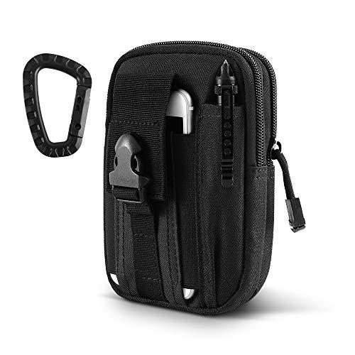AIRSSON Taktische Hüfttaschen, 600D Nylon Militär Kompakt MOLLE EDC Tasche Multifunctional...