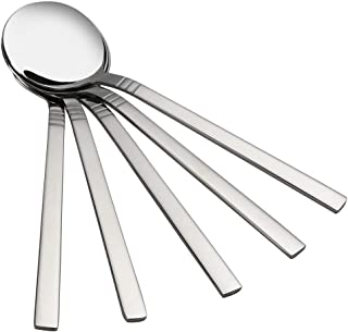Kiddream 12 Pieces Round Soup Spoon Set, Stainless Steel