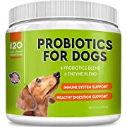 Pawfectchow Probiotics for Dogs + Natural Digestive Enzymes - Made in USA - 240 Billion CFUs Prebiotics Chews - Diarrhea, Gas, Constipation Relief-170 Chews