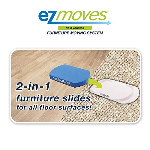 EZ Moves Furniture Moving System with Lifter Tool & 8 Slides