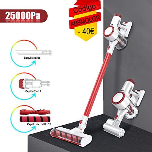 HONITURE Aspiradora Escoba sin Cable, Aspirador sin Cable Potente 25000pa, 350W Motor Digital Brushless,2600mAh...