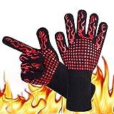 Eiwoda BBQ Handschuhe Extrem Hitzebeständig, Ven Handschuhe BBQ Grillhandschuhe 800 ℃ Extrem Hitzebeständige Ofenhandschuhe für Grillen, Kochen, Backen, Schweißen, Schneiden (1 Paar)