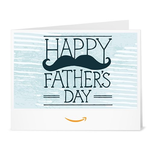 Happy Father's Day (Moustache) - Printable Amazon.co.uk Gift Voucher