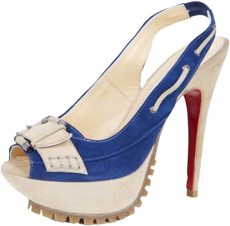 FersenGold FersenGold 1123.01 Plateau Sandalette Blau Beige  100% nagelneu mit ursprünglicher Qualität