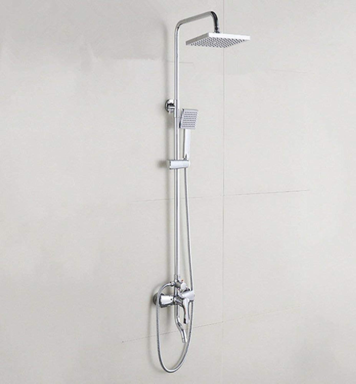 Willsego Duschset kupferne Dusche verstellbare Handbrause Jade Kissen Duschkopf, der Wanddusche anhebt