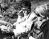 Marianne Faithfull and Alain Delon in The Girl on a Motorcycle cool on set in sunglasses 11X14 Photo
