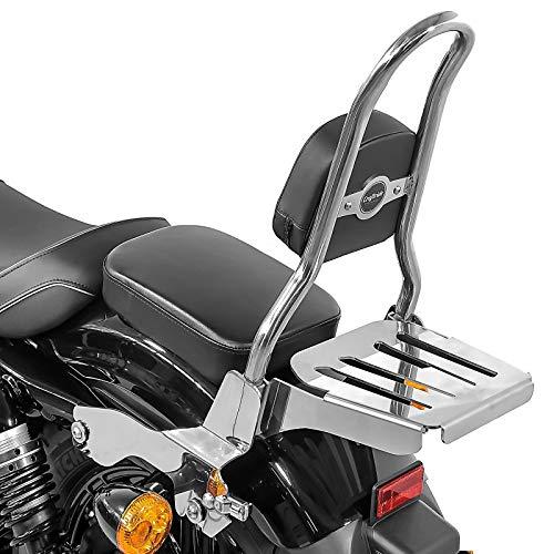 Sissybar Ohio M für Harley-Davidson Sportster 04-20 mit Gepäckträger Edelstahl