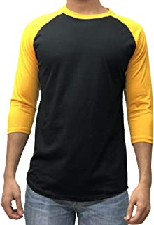 black and yellow raglan