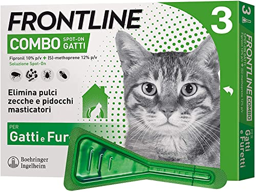 Frontline Combo, 3 Pipette, Antiparassitario per Gatti,...