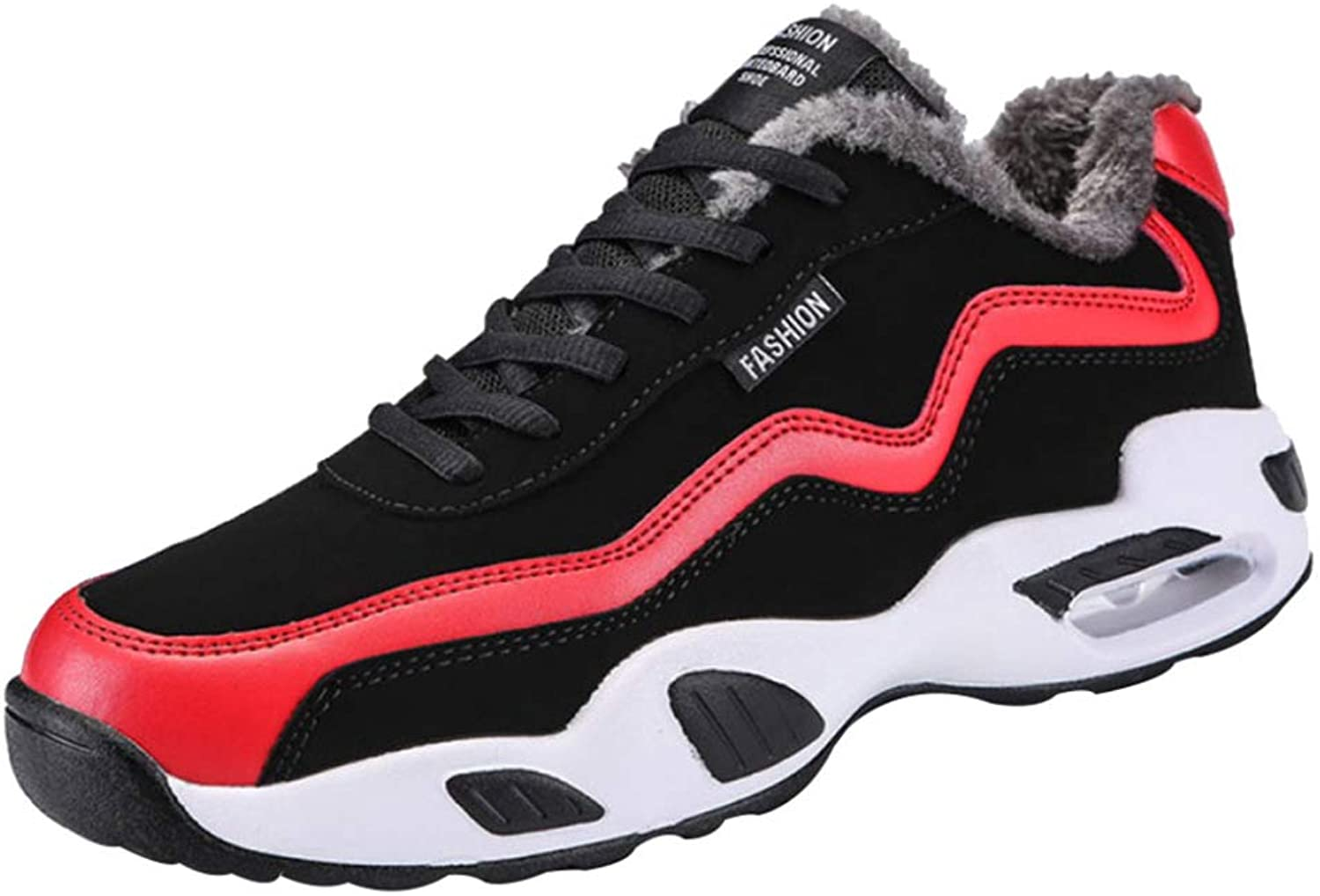 MISS LI Sports shoes Winter High Basketball shoes Men Plus Velvet Warm Non-Slip Wear Casual Student Air Cushion Running shoes