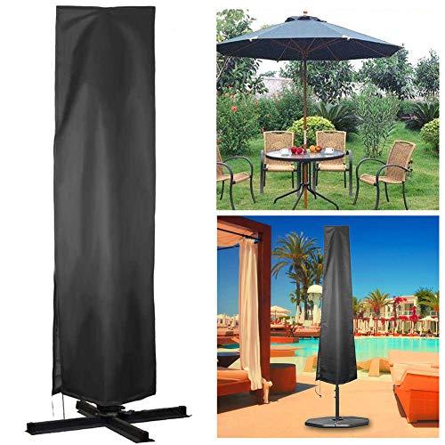 Funda para Sombrilla Excentrica, Funda Protectora Grande para Sombrilla con Cremallera - Impermeable y UV Carcasa Protectora para Sombrillas (Table Umbrella Cover)