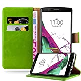 Cadorabo Book Case works with LG G4 / G4 PLUS in GRASS