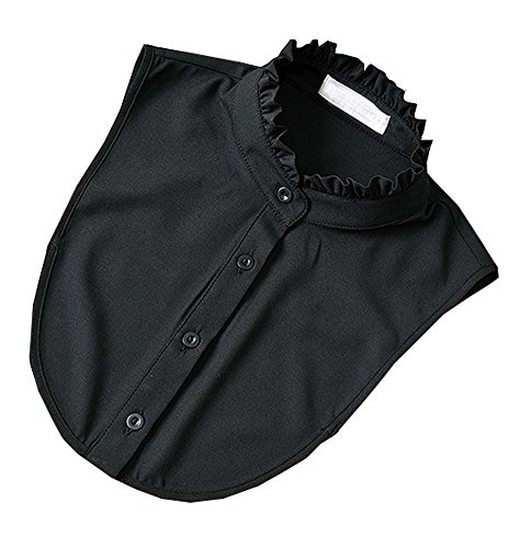 Black Temptation Weißes Hemd Falscher Kragen Klassisches Weißes Mode Hemd Falscher Kragen, Schwarz